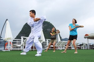 Tai Chi Exercise on Starlight Cruise