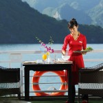 breakfast on sundeck on starlight cruise halong bay