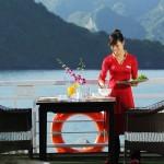 breakfast on sundeck on starlight cruise halong bay