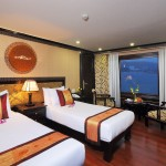 twin cabin on halong cruise