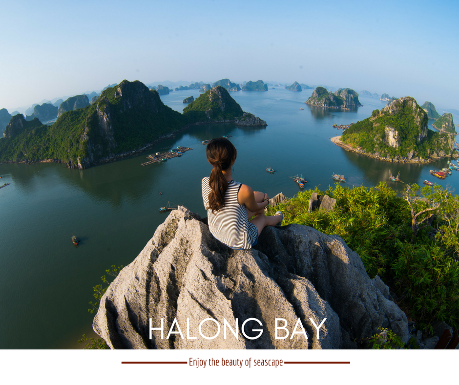 Halong beauties look from the high places